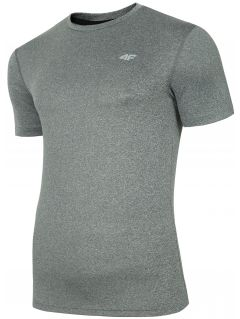 Men's active T-shirt TSMF301 - warm light grey melange