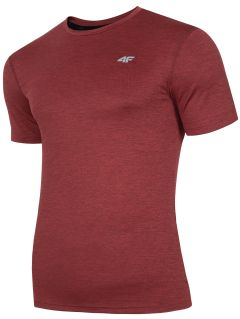 Men's active T-shirt TSMF301 - red melange