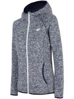 Women's fleece hoodie PLD002 - navy melange