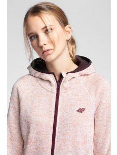 Women's fleece hoodie PLD002 - light pink