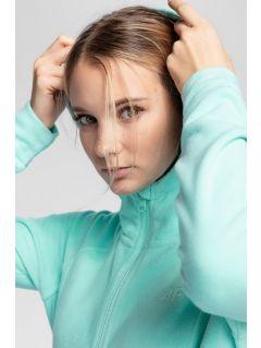 Women's fleece hoodie PLD003 - mint