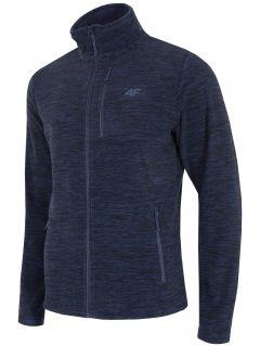 Men's fleece sweatshirt PLM001 - navy melange