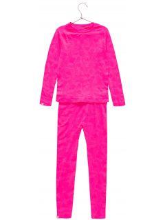 Seamless underwear (top + bottom) for older children (girls) JBIDB400 - fuchsia