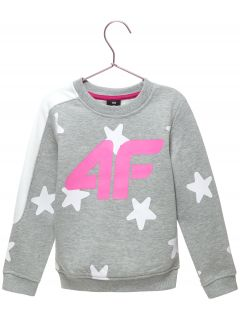 Sweatshirt for younger children (girls) JBLD102 - light grey melange