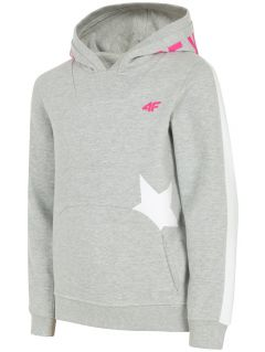 Hoodie for older children (girls) JBLD212 - light grey melange