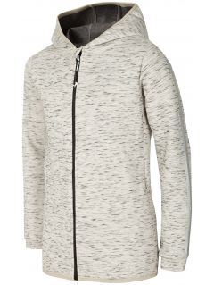 Hoodie for older children (girls) JBLD400 - light grey melange