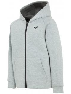 Hoodie for older children (boys) JBLM401 - light grey melange