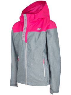 Urban jacket for older children (girls) JKUD201 - grey melange