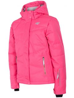 Ski jacket for older children (girls) JKUDN400 - fuchsia