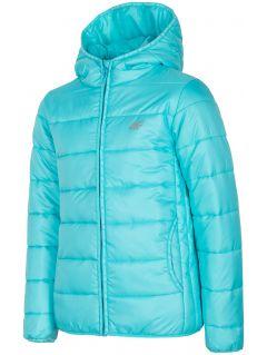 Down jacket for older children (girls) JKUDP201a - mint