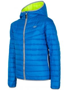 Down jacket for older children (boys) JKUMP201 - cobalt blue