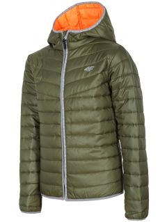 Down jacket for older children (boys) JKUMP201 - khaki