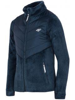 Fleece sweatshirt for older children (girls) JPLD200 - navy