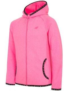 Fleece hoodie for older children (girls) JPLD400 - fuchsia