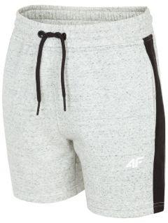 Knit shorts for older children (boys) JSKMD200 - light grey melange