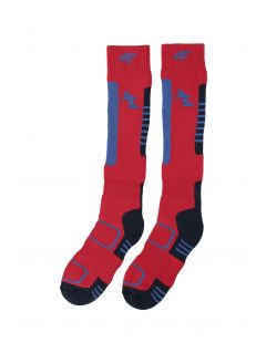 Ski socks for older children (boys) JSOMN401 - red