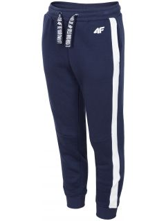 Sweatpants for older children (girls) JSPDD207 - dark navy