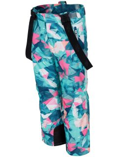 Ski pants for younger children (girls) JSPDN302 - mint allover