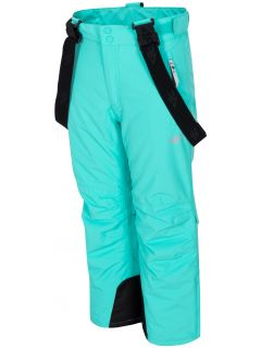 Ski pants for older children (girls) JSPDN401 - mint