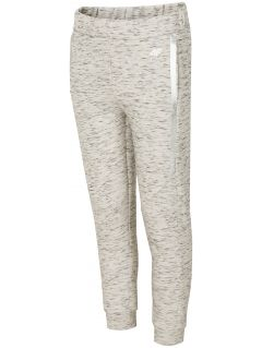 Active pants for older children (girls) JSPDTR400 - light grey melange