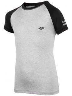 Active T-shirt for older children (boys) JTSM400 - light grey melange