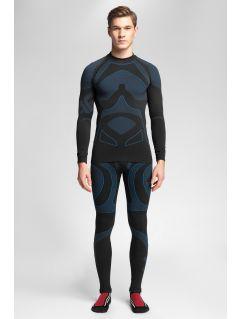 Men's seamless underwear (top + bottom) 4Hills BIMB100 - navy