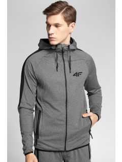 Men's active hoodie 4Hills BLMF200a - medium grey melange