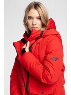 Women's down jacket 4Hills KUDP100 - dark red