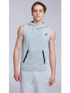 Men's hoodie blm209 - grey melange