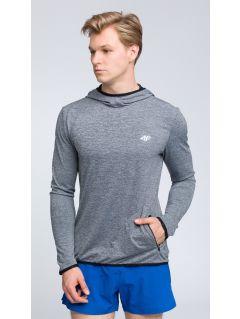 Men's active hoodie BLMF003 - light grey