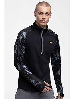 Men's active sweatshirt BLMF250 - black allover