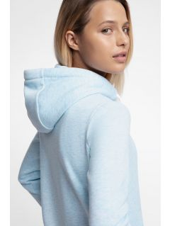 Women's hoodie BLD301- light blue melange