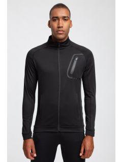 Men's active sweatshirt BLMF200 - black