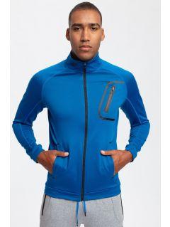 Men's active sweatshirt BLMF200 - cobalt blue