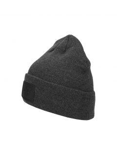 Men's hat CAM212 -  dark grey melange