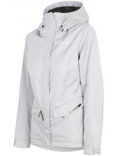 Women's urban jacket KUD301 - light grey melange
