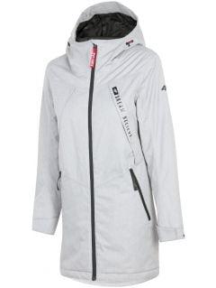 Women's urban jacket KUD302 - light grey melange