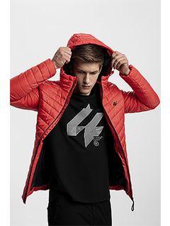 Men's down jacket KUMP301 - red