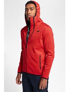 Men's fleece hoodie PLM251 - red