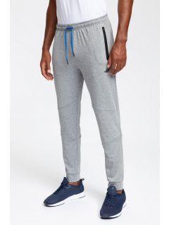 Men's active pants SPMTR200 - light grey melange
