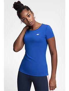 Women's active T-shirt TSDF206 - cobalt blue