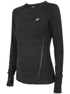 Women's active long sleeve T-shirt TSDLF300 - deep black melange