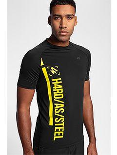 Men's active T-shirt TSMF152 - black allover