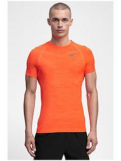 Men's active T-shirt TSMF258 - orange melange