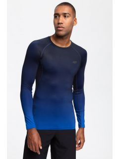Men's active long sleeve T-shirt TSMLF200 -  dark navy allover