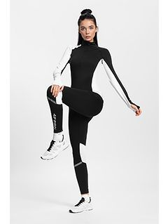 Women's active leggings 4FPro Skirunning SPDF401 - black