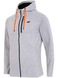 Men's hoodie BLM006 - light grey melange