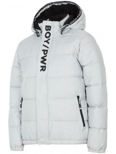 Urban jacket for older children (boys) JKUM202 - grey melange
