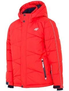 Ski jacket for older children (boys) JKUMN400 - red