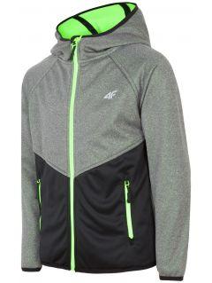Softshell jacket for older children (boys) JSFM400 - light grey melange